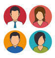 set of business people icon vector image
