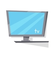 LCD TV Monitor with Blank Screen vector image