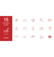 15 cook icons vector image vector image