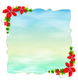 An empty template with floral borders vector image vector image