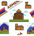 armenian architecture and nature mountains and vector image vector image