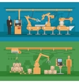 Automated Assembly Compositions vector image vector image