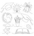 back school set vector image vector image