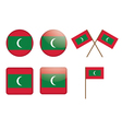 badges with flag of Maldives vector image vector image
