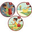 Beware of pickpockets vector image