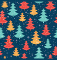 blue red and yellow scattered christmas vector image vector image