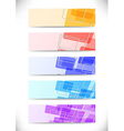 Bright colorful tiles fly banners set vector image vector image