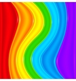 Bright rainbow plastic waves background vector image vector image
