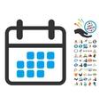 Calendar Month Icon With 2017 Year Bonus Symbols vector image vector image