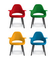 chair isolated on white set 3d vector image vector image
