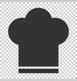 chef hat icon in flat style cooker cap on vector image