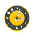 clock concept icon flat style vector image vector image