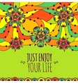 Colorful banner Just enjoy your life vector image vector image
