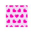 colourful seamless little love hearts vector image vector image