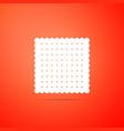 cookie icon isolated on orange background vector image