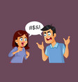 couple cursing and swearing in an argument vector image vector image