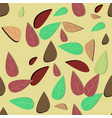 cute multicolor 3d autumn leaves seamless vector image vector image