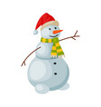 cute snowman christmas and new year symbol vector image