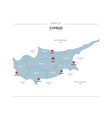 cyprus map with red pin vector image
