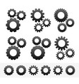 different cogwheel compositions with parts vector image vector image
