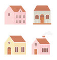 different houses real estate construction exterior vector image