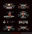 Drone or quadrocopter set vector image