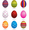 Easter eggs isolated vector image vector image