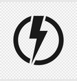 electric lightning icon vector image