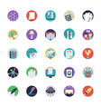 flat education icons set vector image vector image