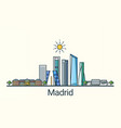 flat line madrid banner vector image vector image