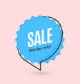 flat linear promotion banner speech bubble price vector image