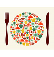Food and restaurant concept vector image vector image