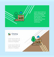 garden abstract corporate business banner vector image