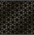 geometric art deco stylish pattern vector image vector image