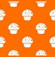 glaze cupcake pattern orange vector image vector image
