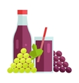 Grape Juice Concept vector image vector image