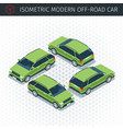 green off-road car vector image vector image