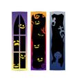 halloween gradient frame banner set vector image vector image