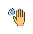 hand with water drops hygiene washing vector image
