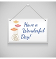 Hanging note board vector image vector image