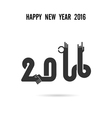 happy new year colorful greeting card design vector image vector image