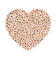 Heart mosaic of dots vector image vector image