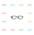 isolated eyeglasses icon geek element can vector image vector image