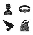 man young glasses and other web icon in black vector image vector image