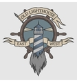 Marine emblem in vintage style vector image vector image