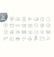 modern media web and mobile app thin line icons vector image vector image