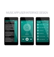 Music modern app user interface design vector image vector image