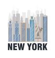 new york city statue of liberty scene vector image vector image