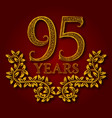 ninety five years anniversary celebration vector image vector image