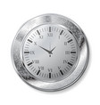 old silver watch vector image vector image